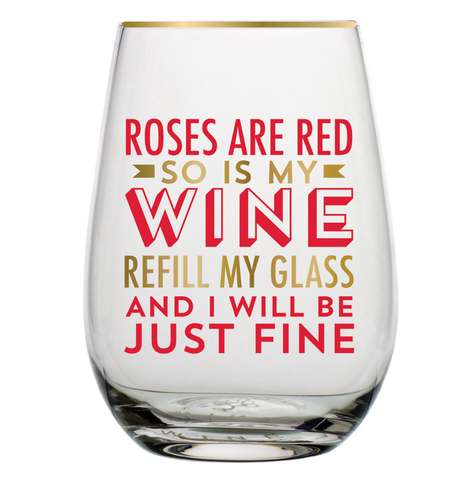 Roses,Are,Red,Wine,Glass,slant, valentine's day, wine glass