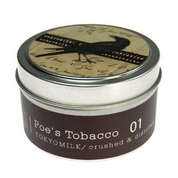 Poe's,Tobacco,No.,1,Tin,Candle,tokyomilk, burwell industries, margot elena, poe's tobacco, no. 1, travel candle, tin