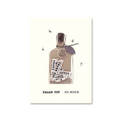 Bottle,of,Thanks,papyrus, handmade, thank you, international, hong kong, bottle, note