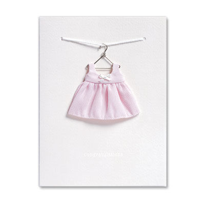 Pink,Dress,on,Hanger,papyrus, handmade, international, hong kong, new baby