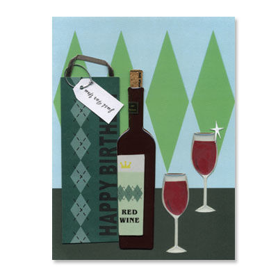Argyle,Bag,+,Wine,Bottle,papyrus, birthday, handmade, international, hong kong, wine