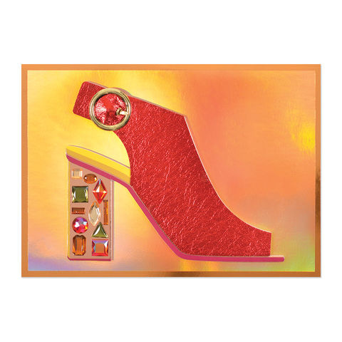Gem,Leather,Shoe,with,Buckle,papyrus, handmade, greeting, card, leather, shoe, fashion, international, hong kong
