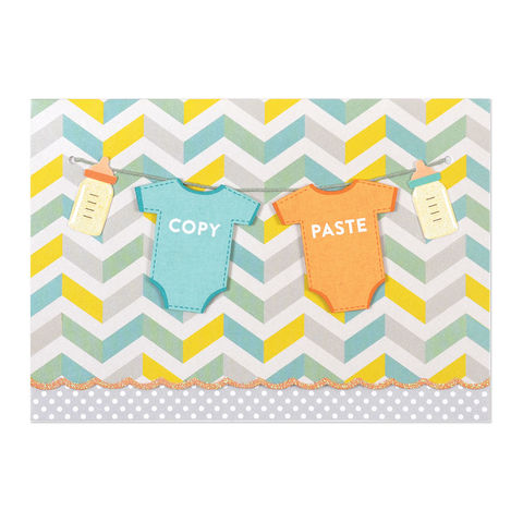 Copy,&,Paste,Twins,papyrus, handmade, greeting, card, new baby, child, kid, twins, twinsies, international, hong kong