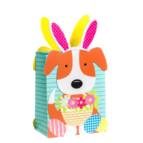 Easter gift bags easter treat bags wrap collection anas die cutpuppywithbunnyearsmediumbag negle Image collections