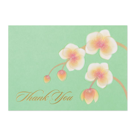 Orchids,on,Vellum,papyrus, handmade, greeting, card, thank you, floral, flowers, orchid, orchids, international, hong kong