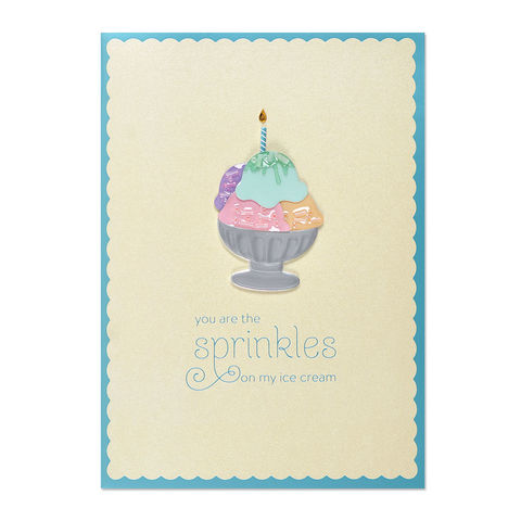 Sprinkles,to,My,Sundae,papyrus, birthday, handmade, greeting, card, romance, love, international, hong kong