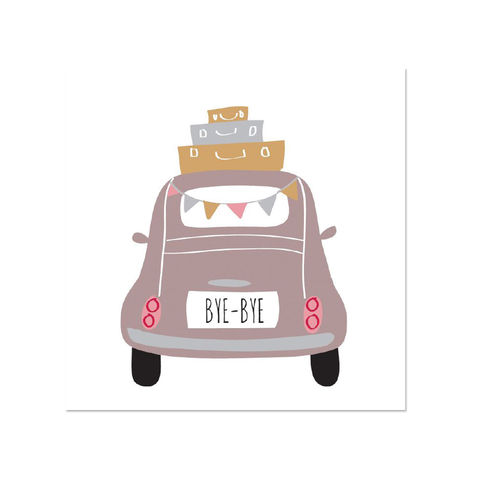 Car,Driving,Away,papyrus, handmade, greeting, card, farewell, bye, congratulations, international, hong kong