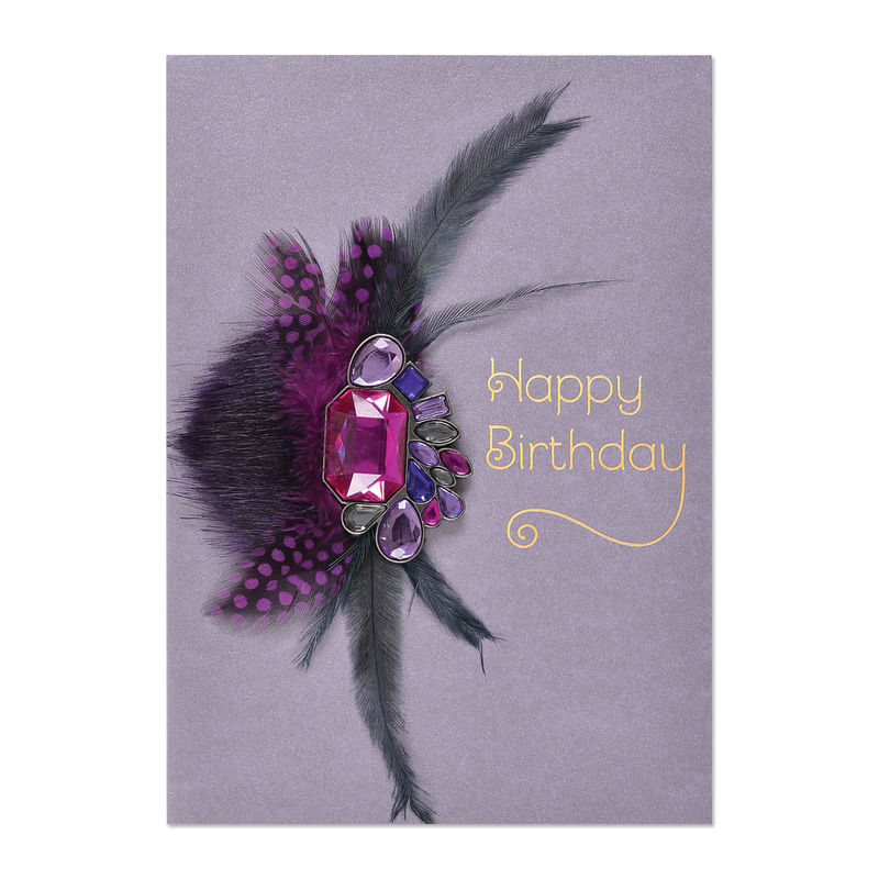 Purple gems feather brooch anas papeterie greeting cards purple gems feather brooch anas papeterie greeting cards stationery and gifting boutique m4hsunfo