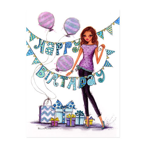 Fashionista,Birthday,Party,papyrus, handmade, greeting, card, birthday, fashion, girl, international, hong kong