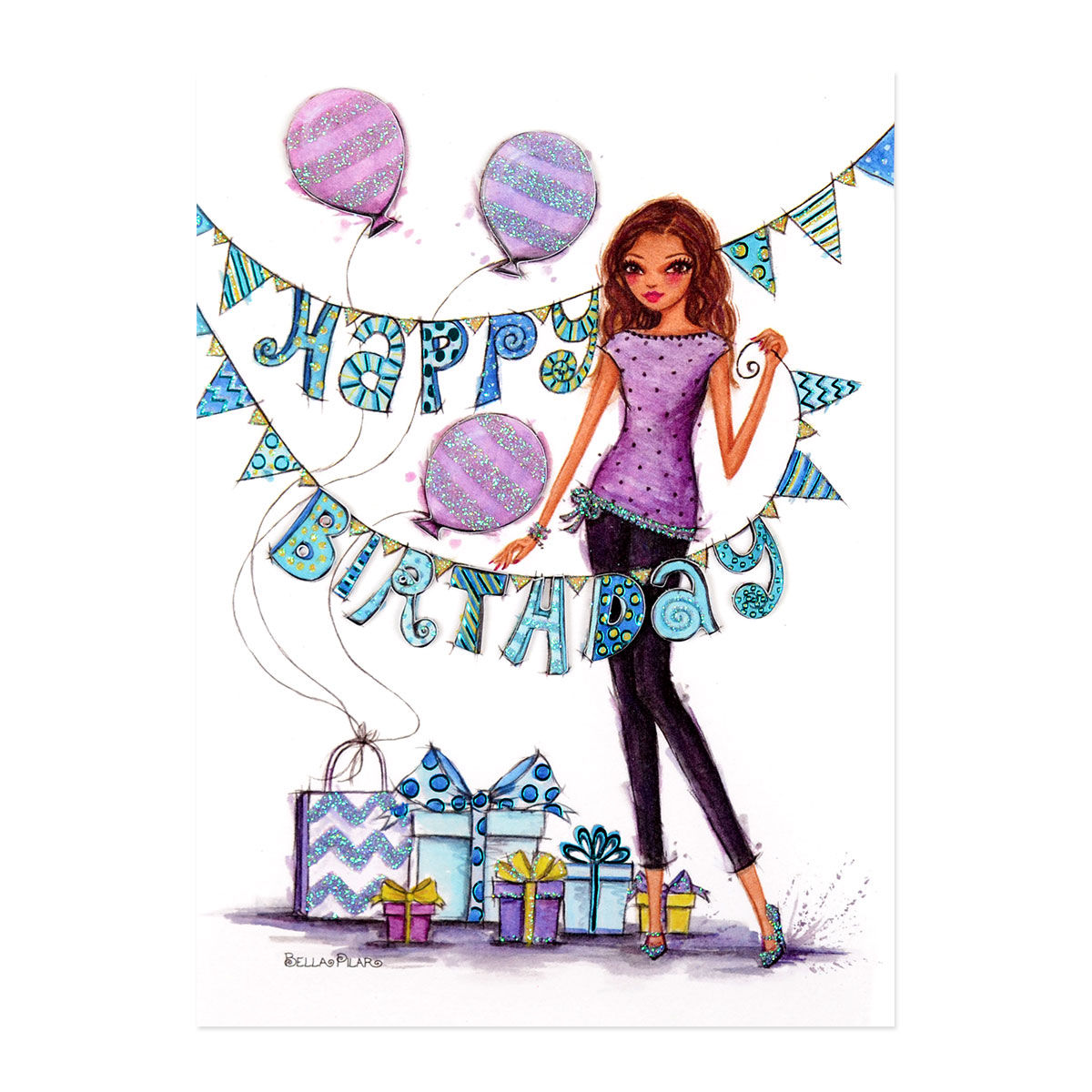 Fashionista Birthday Party Ana S Papeterie Greeting