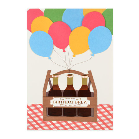 Birthday,Brew,papyrus, handmade, greeting, card, birthday, brew, international, hong kong