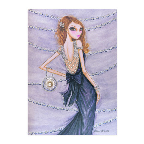 Pearls,Fashion,Dress,papyrus, handmade, greeting, card, pearls, fashion, dress, bella pilar, birthday, international, hong kong