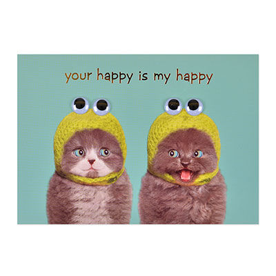 Happy,Cats,papyrus, handmade, greeting, card, cat, cats, happy