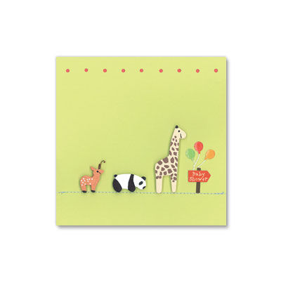 Animals,Following,Baby,Shower,Sign,papyrus, handmade, greeting, card, baby shower, new baby, animals, animal, sign, international, hong kong