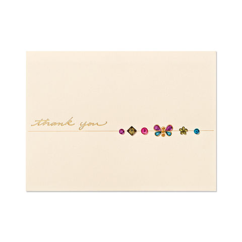 Butterfly,Gems,with,Thank,You,papyrus, handmade, greeting, card, thank you, butterfly, gems, international, hong kong