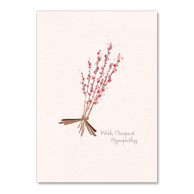 Deepest,Sympathy,Pink,Bouquet,papyrus, handmade, greeting, card, sympathy, pink, bouquet, international, hong kong