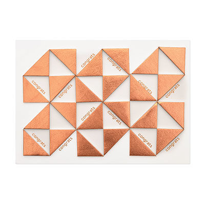 Metallic,Geo,Triangles,Congrat,papyrus, handmade, greeting, card, congrats, congratulations
