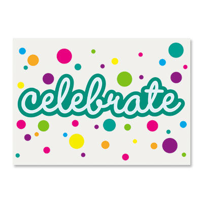 Celebrate,Colorful,Bubble,Dots,papyrus, handmade, greeting, card, bubble dots, birthday, epoxy, international, hong kong