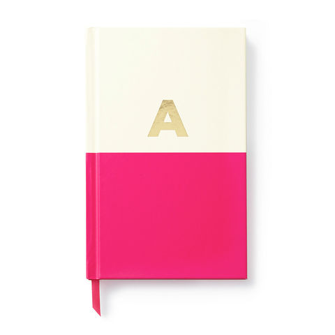 Dipped,Initial,Notebook,(A),by,Kate,Spade,New,York,kate spade, new york, dipped, initial, notebook, monogram, gold, foil, a, international