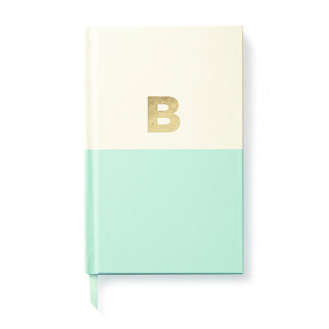 Dipped,Initial,Notebook,(B),by,Kate,Spade,New,York,kate spade, new york, dipped, initial, notebook, monogram, gold, foil, b, international