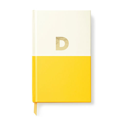 Dipped,Initial,Notebook,(D),by,Kate,Spade,New,York,kate spade, new york, dipped, initial, notebook, monogram, gold, foil, d, international