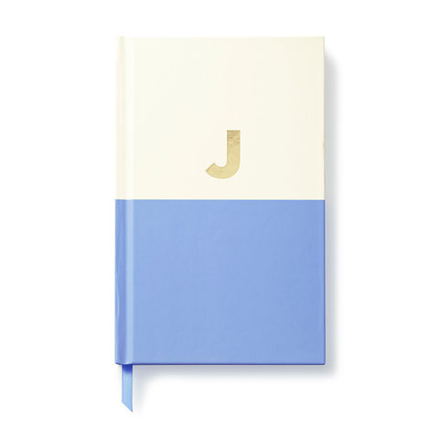 Dipped,Initial,Notebook,(J),by,Kate,Spade,New,York,kate spade, new york, dipped, initial, notebook, monogram, gold, foil, j, international