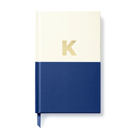 Dipped,Initial,Notebook,(K),by,Kate,Spade,New,York,kate spade, new york, dipped, initial, notebook, monogram, gold, foil, k, international