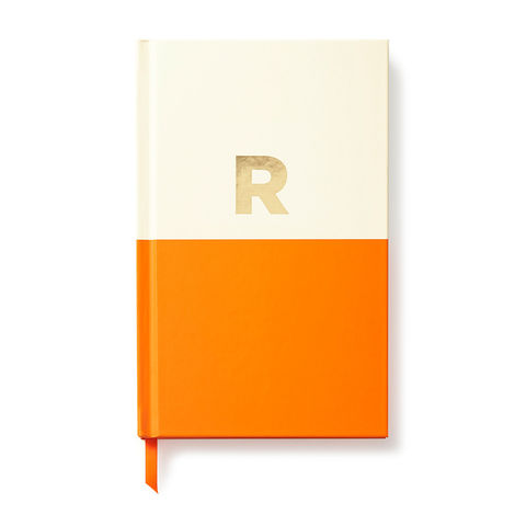 Dipped,Initial,Notebook,(R),by,Kate,Spade,New,York,kate spade, new york, dipped, initial, notebook, monogram, gold, foil, r, international