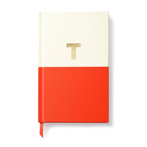 Dipped,Initial,Notebook,(T),by,Kate,Spade,New,York,kate spade, new york, dipped, initial, notebook, monogram, gold, foil, t, international