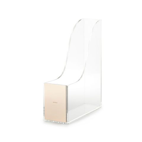 Gold,Magazine,Holder,by,Kate,Spade,New,York,kate spade, new york, gold, magazine holder, office supplies, international