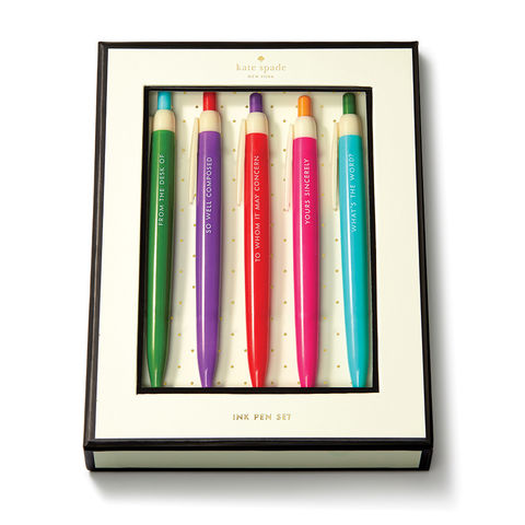 So,Well,Composed,Pen,Set,by,Kate,Spade,New,York,kate spade, new york, pen set, composed, pens, international