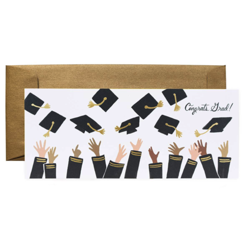 Congrats,Grad!,rifle paper co, graduation, owl, cap, mortar board, mortarboard, education, achievement, diploma, hat, international