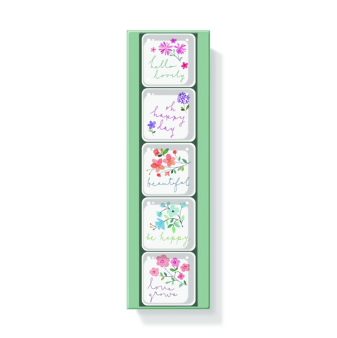 Twiggy,Floral,Square,Magnets,(Set,of,5),twiggy, floral, square, magnets, set of five, fringe, studio, spring, 2016, mother's, mothers, moms, mom, day, may 8th, eighth