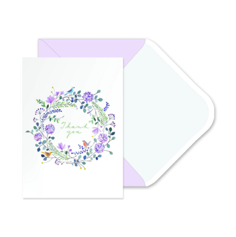 Twiggy,Wreath,Boxed,Thank,You,Notes,(Set,of,10),twiggy, wreath, boxed, thank you, notes, cards, stationery, box, fringe, studio, 2016, spring, mother's, mother, moms, mom, day, may 8th, eighth