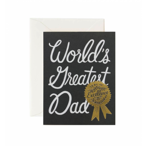 World's,Greatest,Dad,Father's,Day,Card,father's day, father, dad, daddy, rifle paper co., trophy, worlds, greatest, international