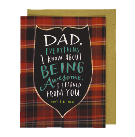 Don't,Tell,Mom,don't tell mom, emily mcdowell, father's day, father, dad, daddy, greeting, card, cards, international