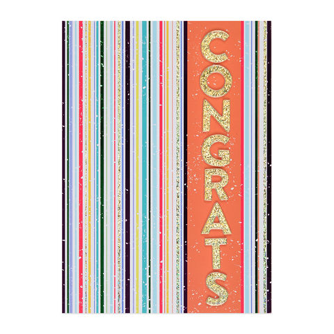 Vertical,Striped,Congrats,congratulations, papyrus, greeting, card, international