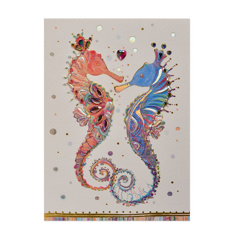 Seahorse,Couple,seahorse, couple, love, romance, greeting, card, papyrus, international, hong kong