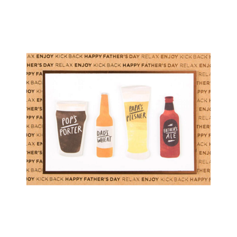 Beer,Types,papyrus, father's day, father, fathers, dad, dads, daddy, june 19th, nineteenth, handmade, greeting, card, cards, beer types, international, hong kong