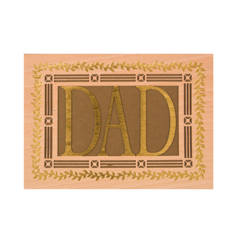 Laser-Cut,Wood,Dad,papyrus, handmade, greeting, card, cards, father's day, father, fathers, dad, dads, daddy, june 19th, nineteenth, international hong kong