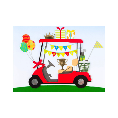 Handmade,Golf,Cart,papyrus, handmade, greeting, card, cards, father's day, father, fathers, dad, dads, daddy, june 19th, nineteenth, golf, golfing, cart, international, hong kong