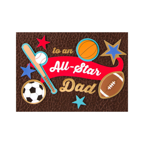 All-Star,Dad,papyrus, handmade, greeting, card, cards, father's day, father, fathers, dad, dads, daddy, june 19th, nineteenth, all star, baseball, sports, international, hong kong