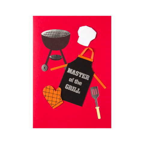Master,of,the,Grill,papyrus, handmade, greeting, card, cards, father's day, father, fathers, dad, dads, daddy, june 19th, master, grill, cooking, outdoors, international, hong kong