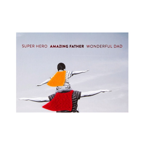 Superhero,Father,papyrus, handmade, greeting, card, cards, father's day, father, fathers, dad, dads, daddy, june 19th, superhero, cape, international, hong kong