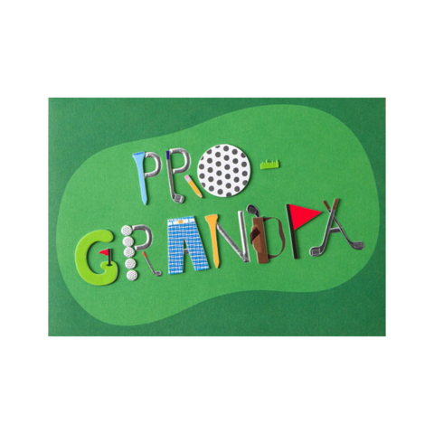 Pro,Golf,(For,Grandpa),Father's,Day,Card,papyrus, handmade, greeting, card, cards, father's day, father, fathers, dad, dads, daddy, june 19th, pro, golf, grandpa, sports, international, hong kong