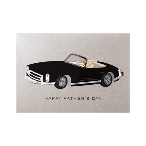 Classic,Black,Car,papyrus, handmade, greeting, card, cards, father's day, father, fathers, dad, dads, daddy, june 19th, classic, black, car, vehicle, racecar, international, hong kong