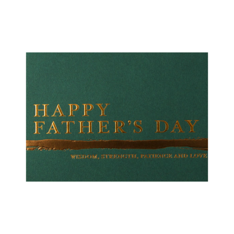 Traditional,Father's,Day,Bronze,on,Green,papyrus, handmade, greeting, card, cards, father's day, father, fathers, dad, dads, daddy, june 19th, nineteenth, bronze, text, forest, green, international, hong kong