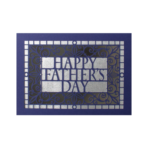 Father's,Day,Laser-Cut,Lettering,papyrus, handmade, greeting, card, cards, father's day, father, fathers, dad, dads, daddy, june 19th, nineteenth, laser-cut, lasercut, lettering, international, hong kong