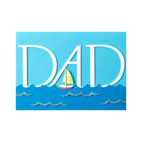 Handmade,Dad,with,Sailboat,&,Ocean,papyrus, handmade, greeting, card, cards, father's day, father, fathers, dad, dads, daddy, june 19th, nineteenth, sailboat, ocean, sea, water, river, boat, seaboat, international, hong kong