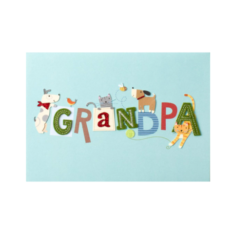 Lettering,with,Dogs,&,Cats,(For,Grandpa),papyrus, handmade, greeting, card, cards, father's day, father, fathers, dad, dads, daddy, june 19th, nineteenth, dogs, cats, animals, grandpa, granddaddy, grandfather, international, hong kong